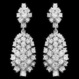 14K WHITE GOLD 5.32CT DIAMOND EARRINGS