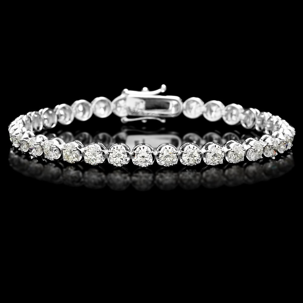 18K WHITE GOLD 9.00CT DIAMOND TENNIS BRACELET