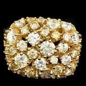 14K YELLOW GOLD 3.10CT DIAMOND RING