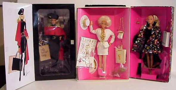 1027: 3 Designer Barbie dolls by Mattel, Savvy Shopper