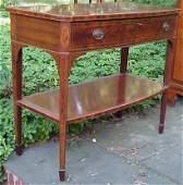 2170 Schmeig  Kotzian Hepplewhite style mahogany swel