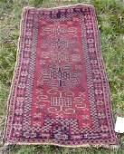 2310 Semi antique Hamadan prayer rug c 1920 approx