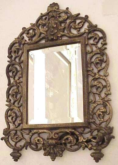 2008: Victorian decorative dresser top mirror with  all