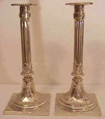 2024: Pr English Sheffield silver plate column form  ca