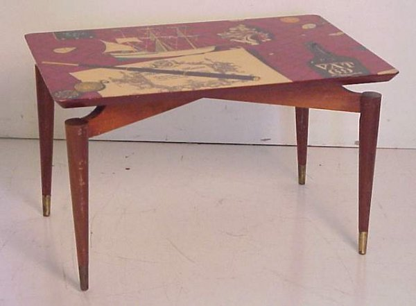 2010: Coffee Table/Italy litho decorated surface,wood &