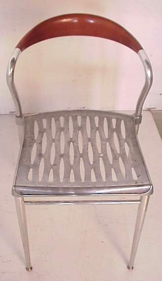 2348: Luigi Origlia / Italy three Piuma side chairs, al - 2