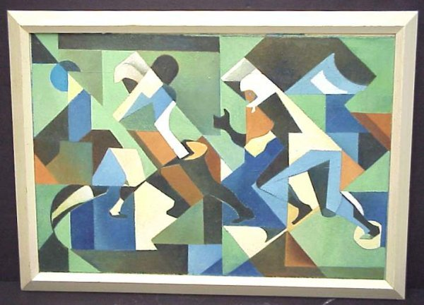 2166: Carl Holty (1900-1973, Amer) Abstraction with  fi