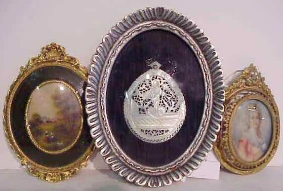 1010A: Miniature landscape painting, signed in gilt met