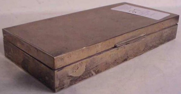 "1027: Continental silver box 8""x4""x1 1/4"""
