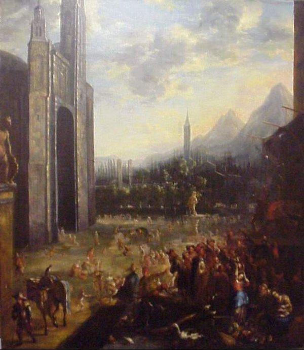 5018: Important 17th Century Italian Festival Scene wit
