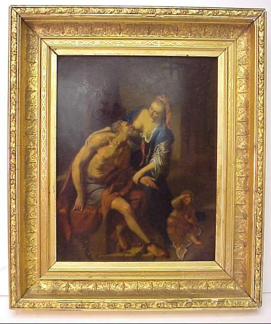 5022: 18th Century Old Master Style painting of a  bibl