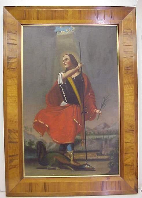 5009: Saint Michael slaying the dragon, oil on canvas,
