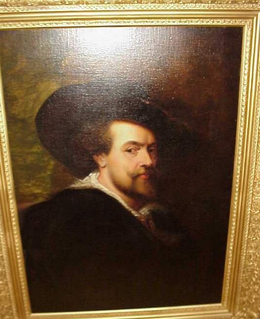 5013: Attrib P. Carloni (19th C Italian) Portrait of  P