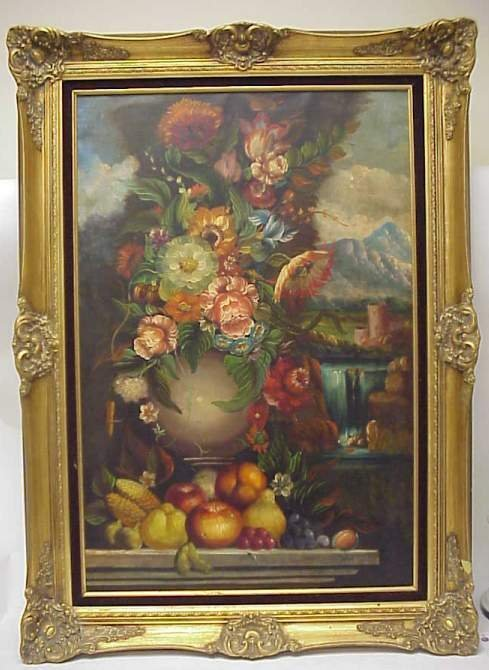 5014: 20thc copy of  17thc Dutch floral still life, oil