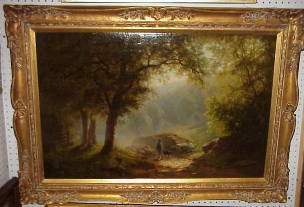 5093: Paul Weber (1823-1916 Germ/Amer) Forest Landscape