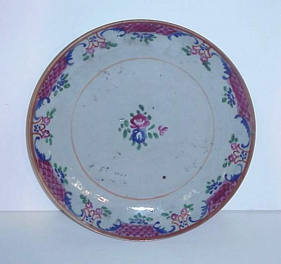 "3016: 19th C Chinese export plate, 10 1/2""d"