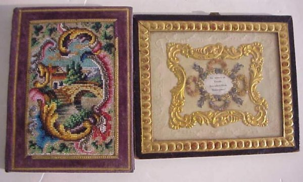 "13: Small notebook with beadwork cover (5 1/2"" x 4"")  a"