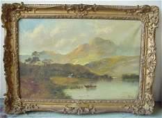 """1186: A.J. Boel (20th C, France) """"Loch Achray, Scotlan"""