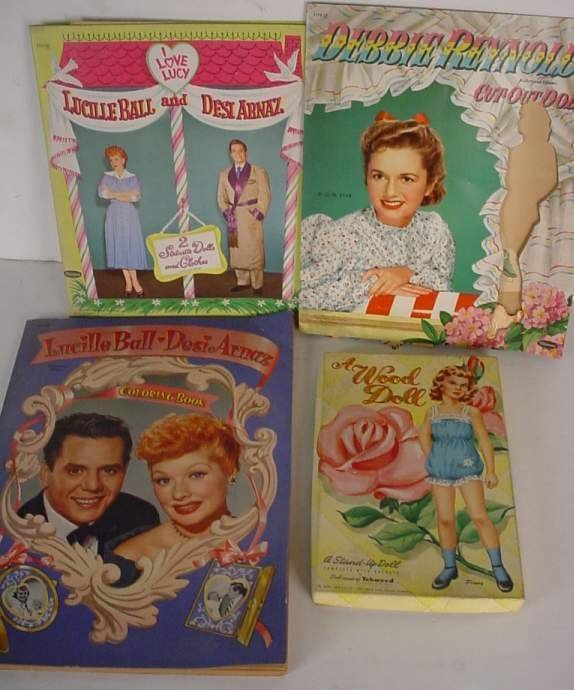 4: Lucille Ball and Debbie Reynold coloring book and  c
