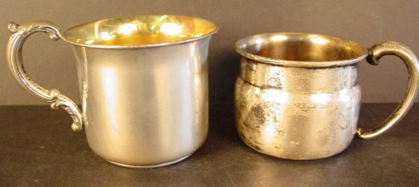 12A: 2 sterling silver baby cups