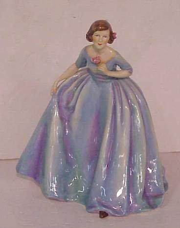 "1007: Royal Worcester  ""The Duchess's Dress"" modelled b"