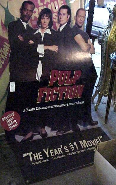 1013: Pulp Fiction cardboard movie theater display