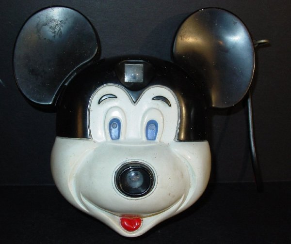 """1006: Vintage Mickey Mouse camera, 6 1/2""""h"""