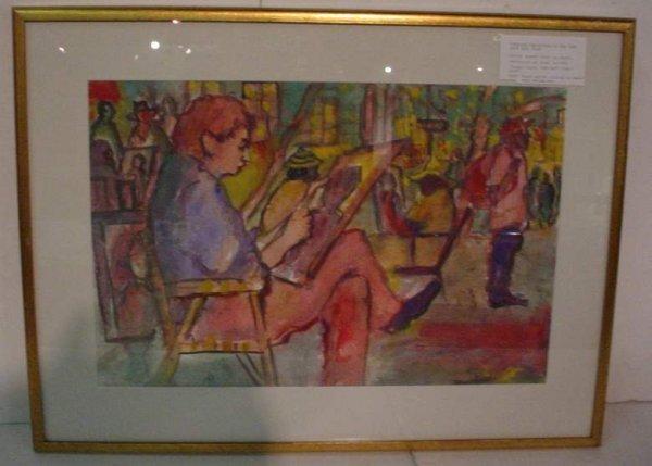 2033: NYC Arts Fair, watercolor, pencil signed verso,