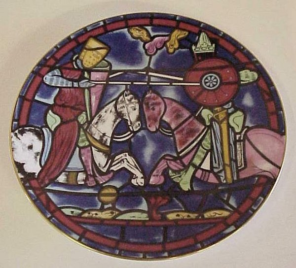 """2014: Cartier / Limoges annual cathedral plate,  """"Chart"""