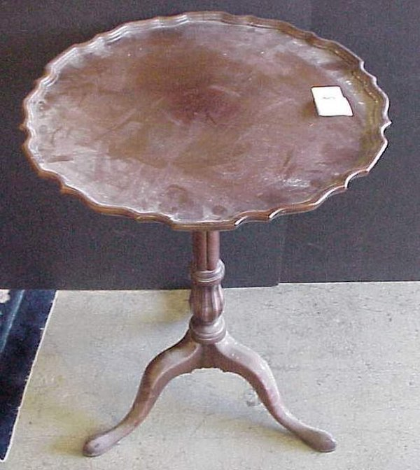 """2030: Mahogany candle stand, 28 1/2""""h, 19""""d"""