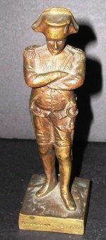 """2030A: Small bronze statue of Napoleon, 6 1/4""""h"""