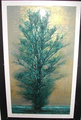 2257: Joichi Hoshi (1913-1979, Japan) Tree study in  bl