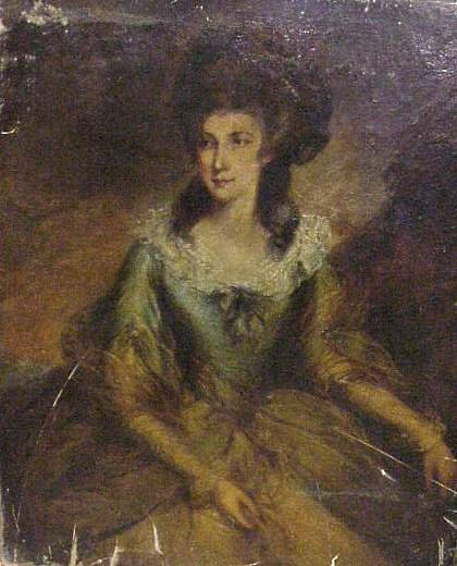 2A: 18THC PORTRAIT OF A LOVELY WOMAN, OIL ON CANVAS, 50