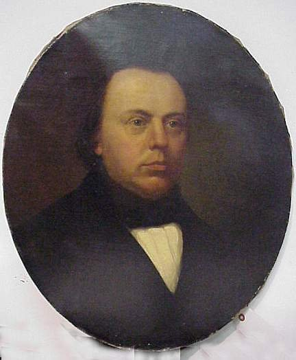 4A: 19THC OVAL PORTRAIT OF A GENTLEMAN, OIL ON CANVAS,
