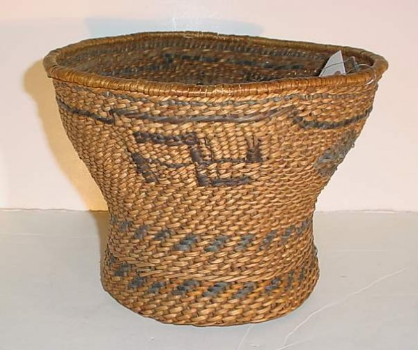 31: Prob Ca Native American basket with good luck  symb