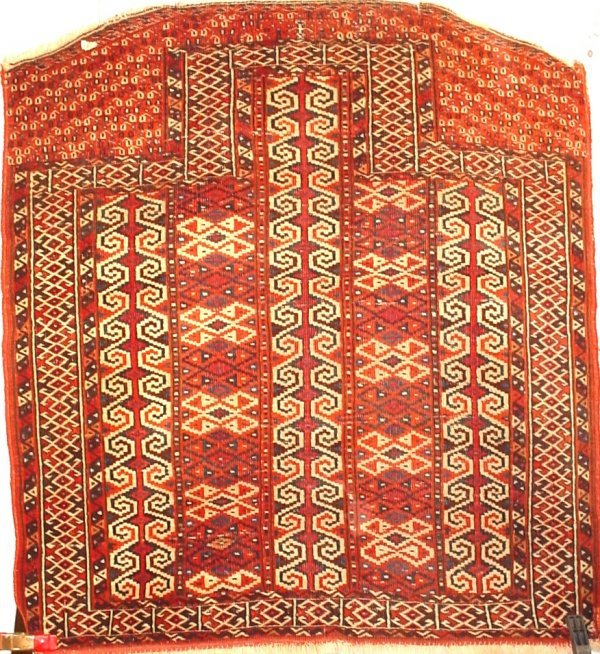 "47: North West Persian antique prayer rug, 40"" x 44"""