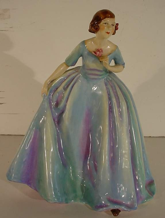 """9: Royal Worcester  """"The Duchess's Dress"""" modeled by  F"""