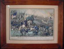 1196 Currier  Ives hand colored litho General  Meag