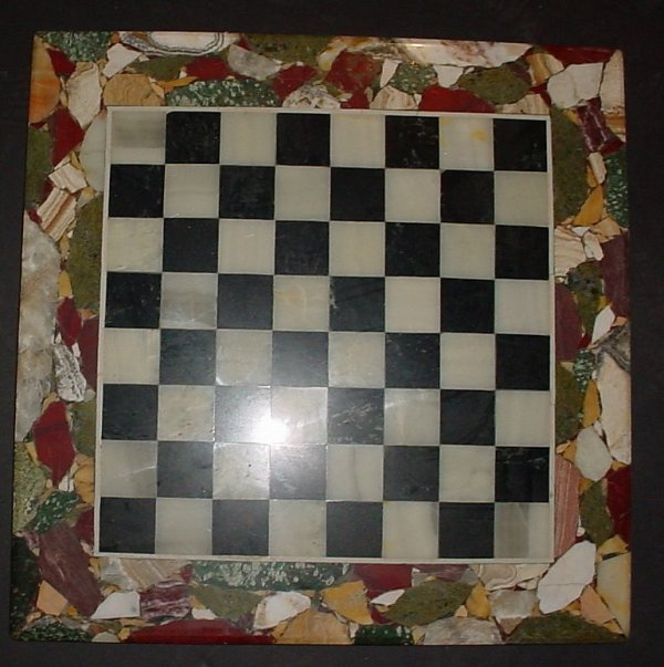 "1013A: Marble chess board, 19 1/2"" x 19 1/2"""