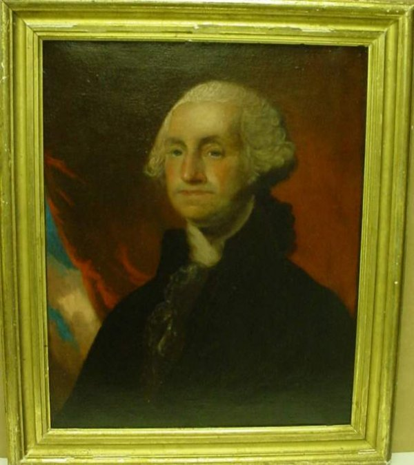 2024: Portrait of George Washington, circa 1830., after
