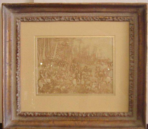 2001: Celluloid relief American Revolution battle scene