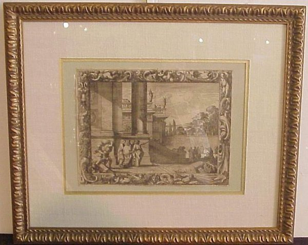 2002: French 19th C engraving of figures in Ancient  Ro