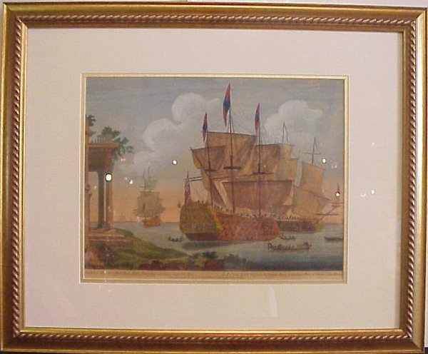 "2003: 19th C colored engraving, ""The Royal Ann""  Battle"