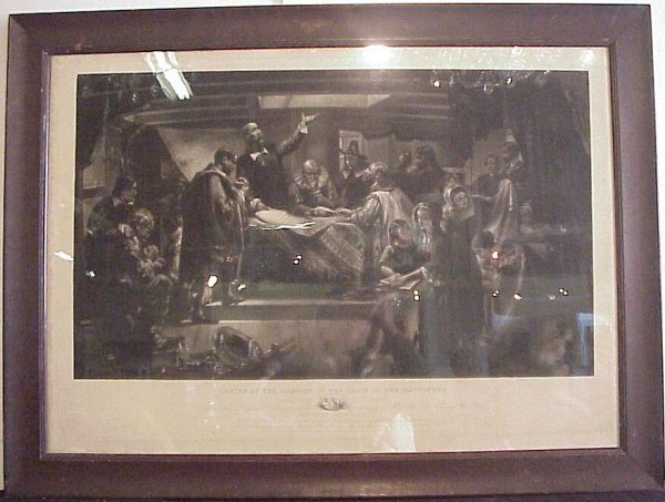 "2006: 19th C American mezzotint, ""Signing of the Compac"