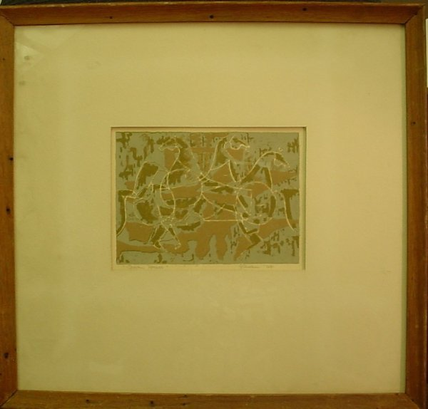 "2026: ""Trojan Horses"", Lithograph, signed Gilman and  d"