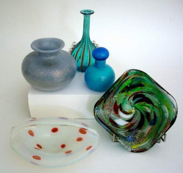 4: Italian Art Glass, (5pcs.) includes three Avem  ,one