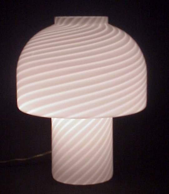 23: Vetri / Murano, Italy glass mushroom lamp, C. late