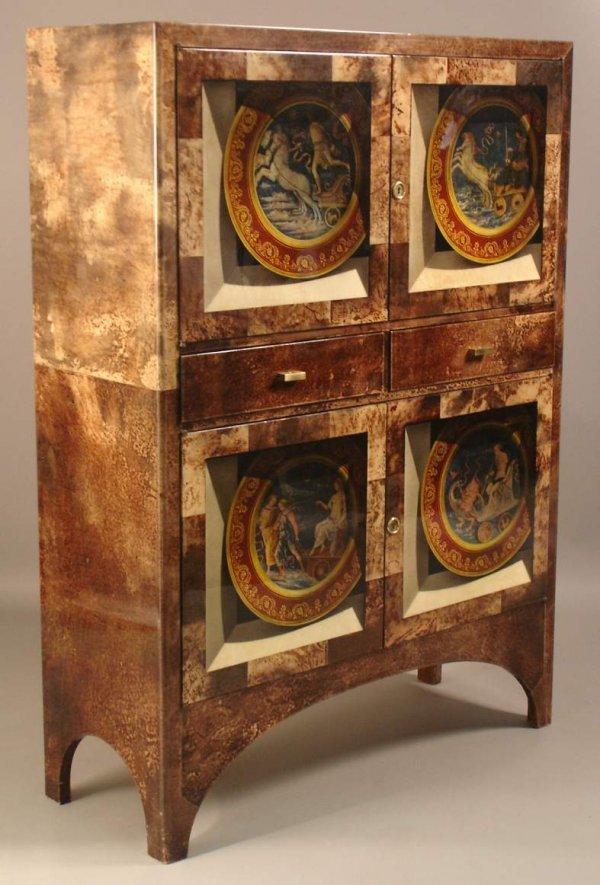 125: Aldo Tura / Milano / Italy , Liquor cabinet  goats