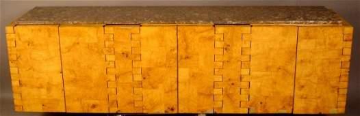 170 Paul Evans Cityscape hanging burl wood credenza