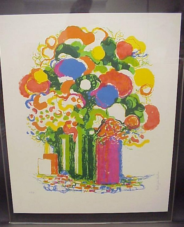 7: Modern still life, lithograph in color, signed  Rona